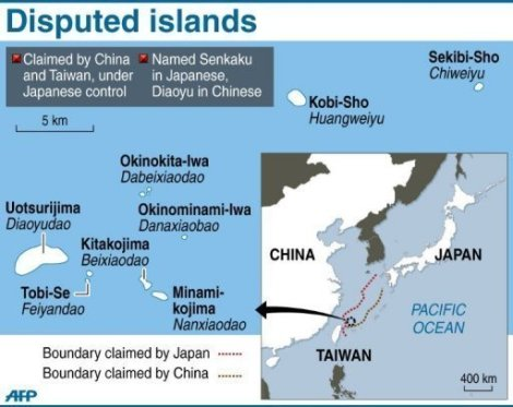 Disputed islands between Japan and China
